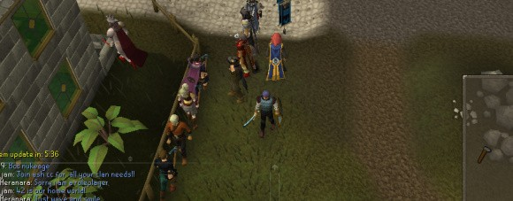 runeScape screenshot of bots