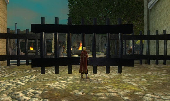 EQII guild hall fence