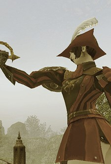 Class features include a hat.  Advantage: Red Mage!