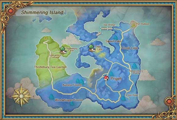 Lime Odyssey - Shimmering Island map