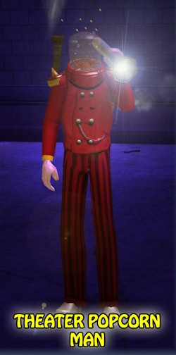 Theater Popcorn Man, winner of a recent City of Heroes costume contest