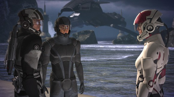 Mass Effect - Shepard, Kaiden, and Ashley