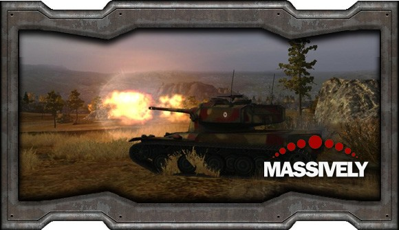 World of Tanks - tank firing at magic hour