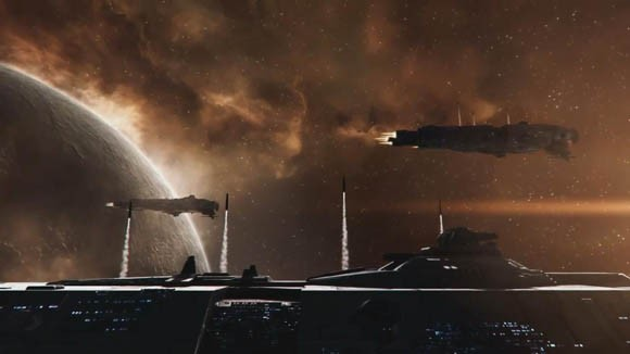 EVE Online - Inferno missiles launching