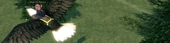 Mabinogi flying mount screenshot