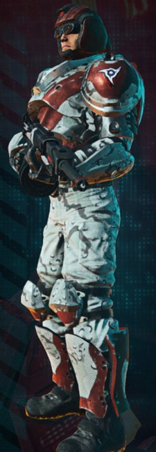 PlanetSide 2 - TR Heavy Assault winter camo