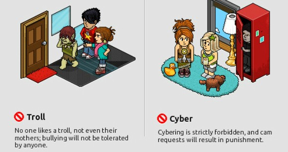 Habbo Hotel rules screenshot