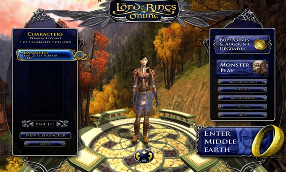 LOTRO Aranneth character page