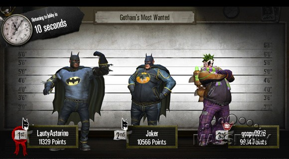 Gotham City Impostors - post-match lineup screen