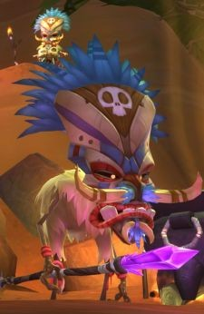 WildStar's diminutive Deradune shaman is not impressed by your attempts at posturing.
