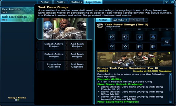 STO Omega rep page