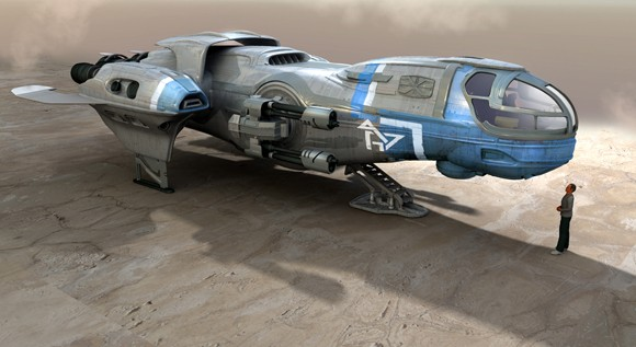 Star Citizen ship concept and human scale