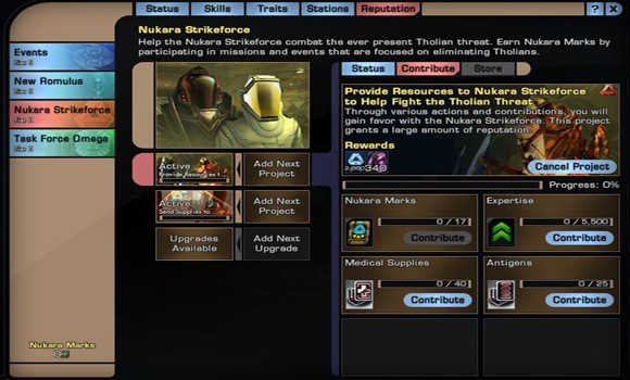 STO Nukara requirements TNG colors