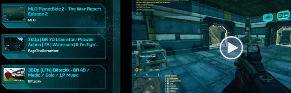 PlanetSide 2 mobile app screenshot