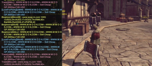 RaiderZ chatbox screenshot