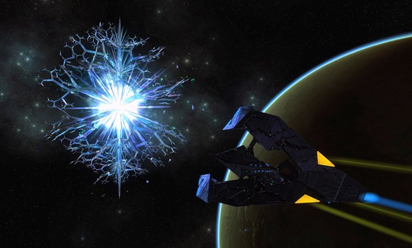 STO Crystalline Entity and Tholian vessel