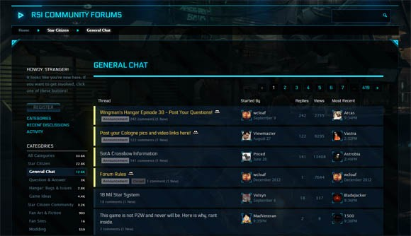 Star Citizen forums