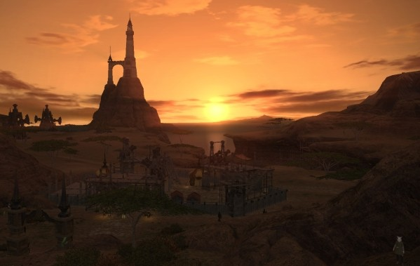 One Shots Sunset over Eorzea