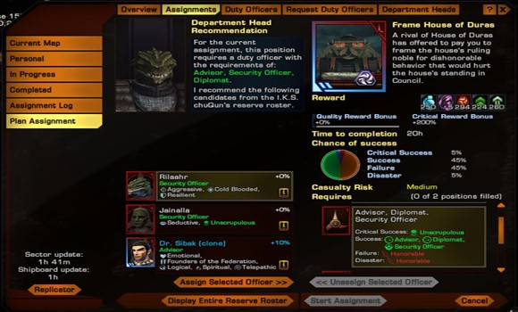 STO KDF DOff traits