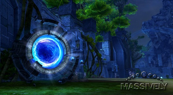 The dungeon portal in Kaisinel's Beacon