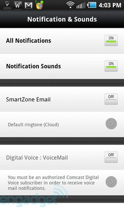 Comcast Xfinity Mobile app for Android