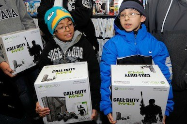 Picture of kids with new Xbox