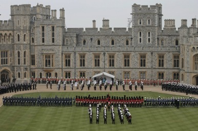 windsor castle during celebrations