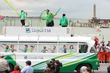 Lloyds at the torch relay