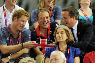 Prince Harry, Andy Hunt, David Cameron