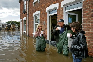 cuppa in the floods