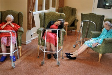 pensioners in a nursing home