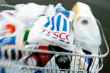 Tesco shopping basket