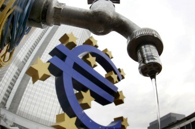 Euro sign and water tap