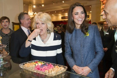 Kate and Camilla in Fortnum & Mason