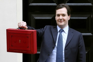George Osborne with the Budget briefcase