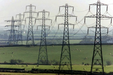 Pylons in Wales