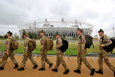 soldiers at the Olympics