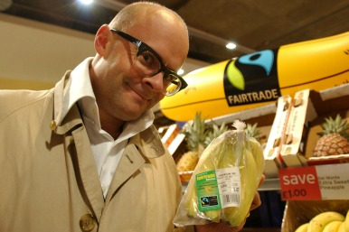 Harry Hill launches Fairtrade logo