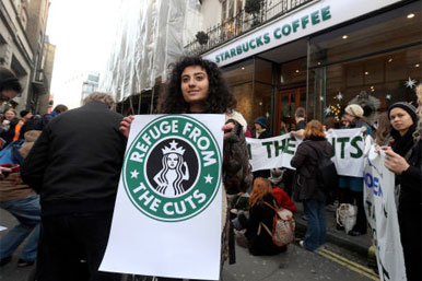 starbucks protestors