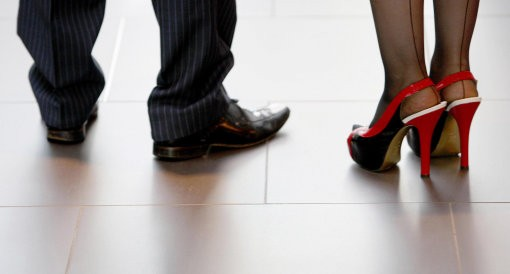 Shoes showing man and woman