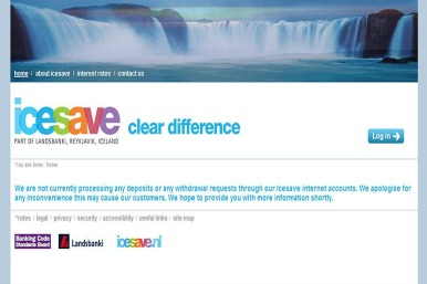 The Icesave website