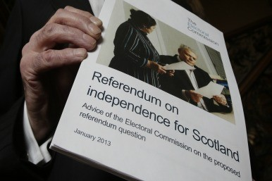 Leaflet on Scottish independence