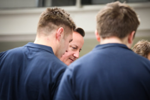 Apprentices with David Cameron