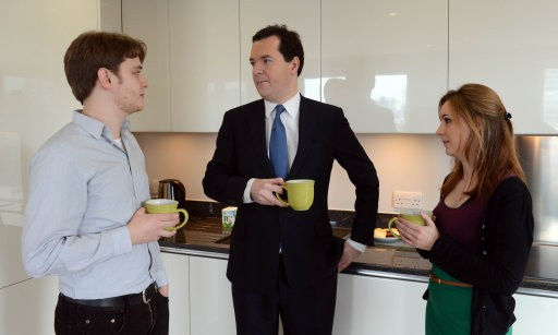 George Osborne with a young couple