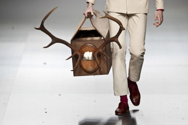 manbag on the catwalk