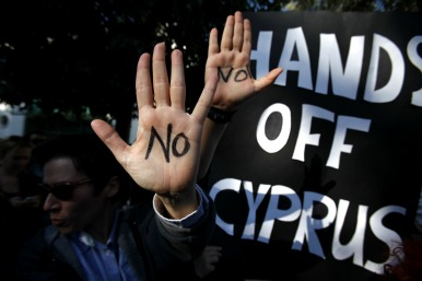 Cypriot protesters