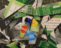 Credit cards cut up