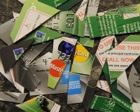 Shredded credit cards