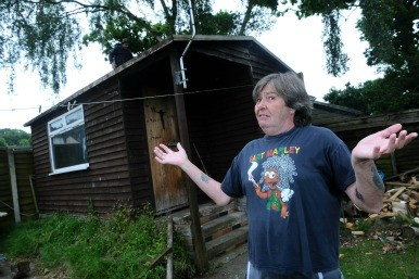 Simon Redclift and his shed