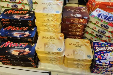 56 boxes of ice creams